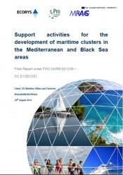 Support activities for the development of maritime clusters in the Mediterranean and Black Sea areas (August 2014)